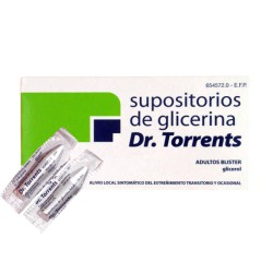 Supositorios Glicerina Dr.Torrent Adultos Blister 12 uds.