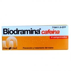 Biodramina Cafeina 4 Comprimidos