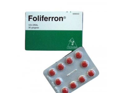 Foliferron 30 Grageas N.F.