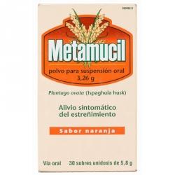 Metamucil Polvo Naranja 30 Sobres